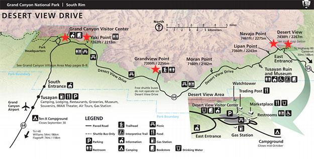 Desert View Drive Map