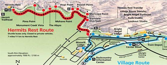 Hermit Road Map