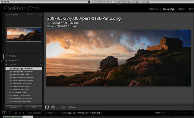 Adding Selective Image Weight to Landscape Photographs in Lightroom