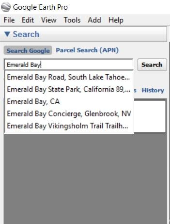 Location Search Google Earth