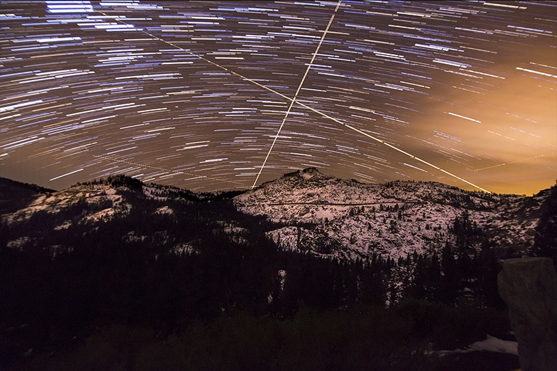Star Trails- Selecting Layers and Lightening IG