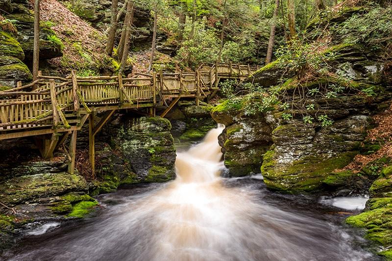 Photographing Bushkill Falls