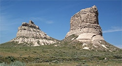Courthouse Rock and Jail Rock