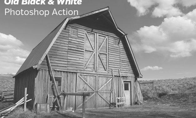Free Old Black & White Photoshop Action
