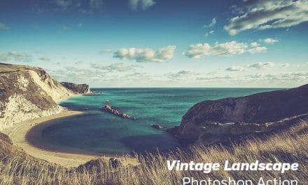Free Photoshop Action: Vintage Landscape