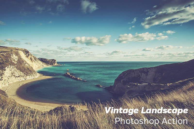 Free Photoshop Action: Vintage Landscape