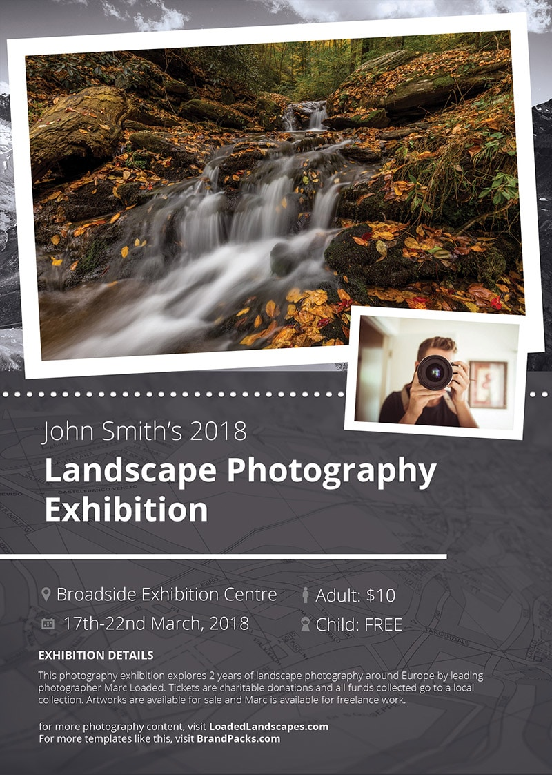Free Photography Exhibit Flyer Template