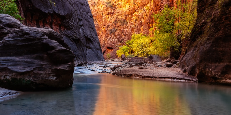 Capturing the Glow in the Narrows of Zion National Park