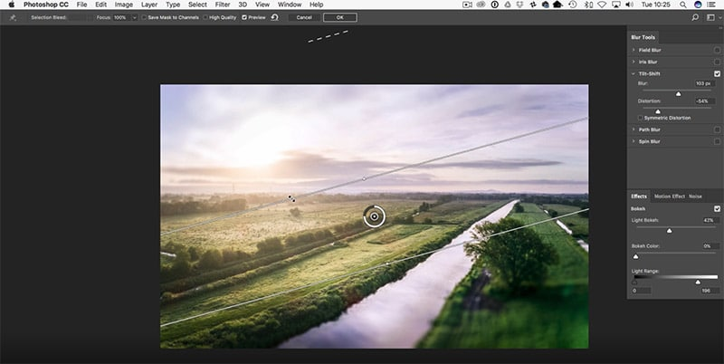 How to Easily Create a Tilt Shift Effect in Photoshop