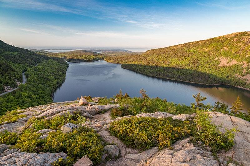 View of Jordan Pond