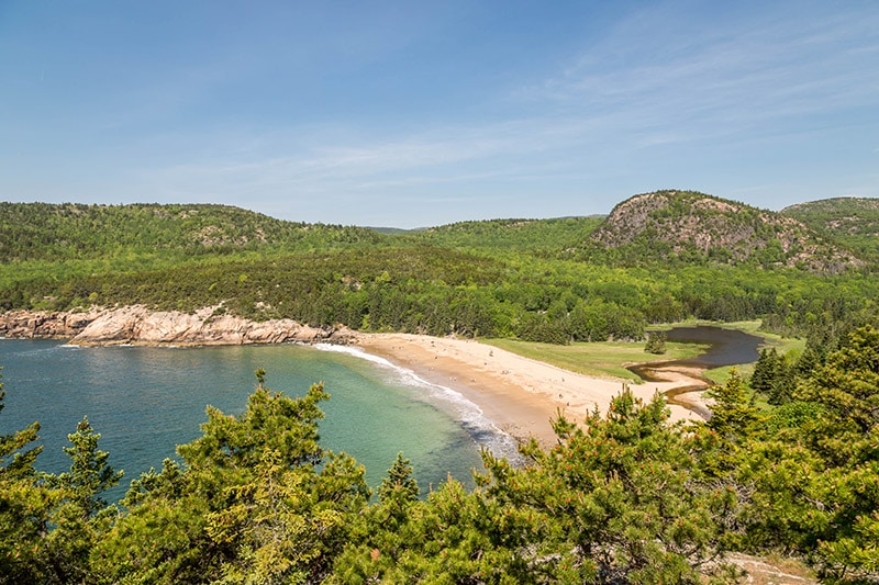 View of Sand Beach and the Beehive from the Great Head Trail