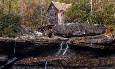 Photographing the Glade Creek Grist Mill in Babcock State Park (West Virginia)