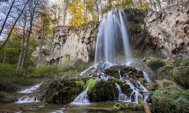 Photographing Falling Spring Falls in Virginia