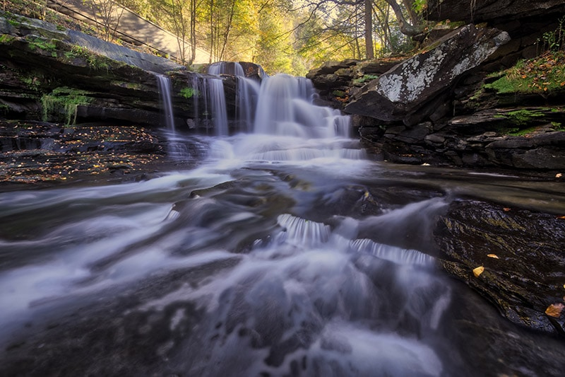 Photographing Dunloup Falls in West Virginia