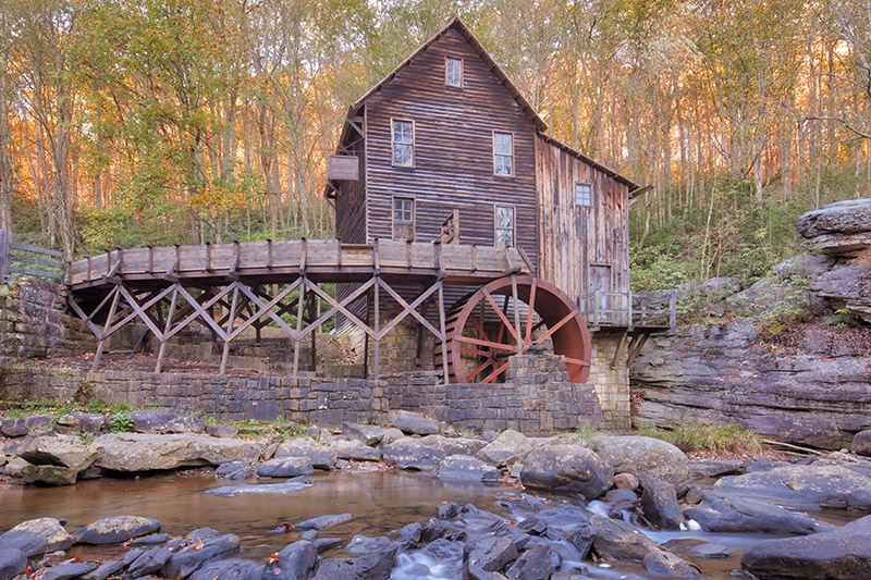 Photographing the Glade Creek Grist Mill in Babcock State Park