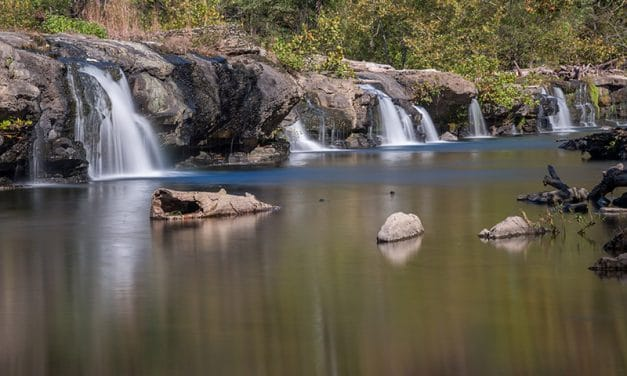 Photographing Sandstone Falls in West Virginia