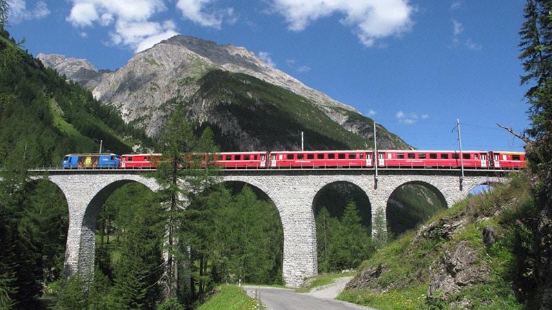 train bridge near Bergün, Albula valley