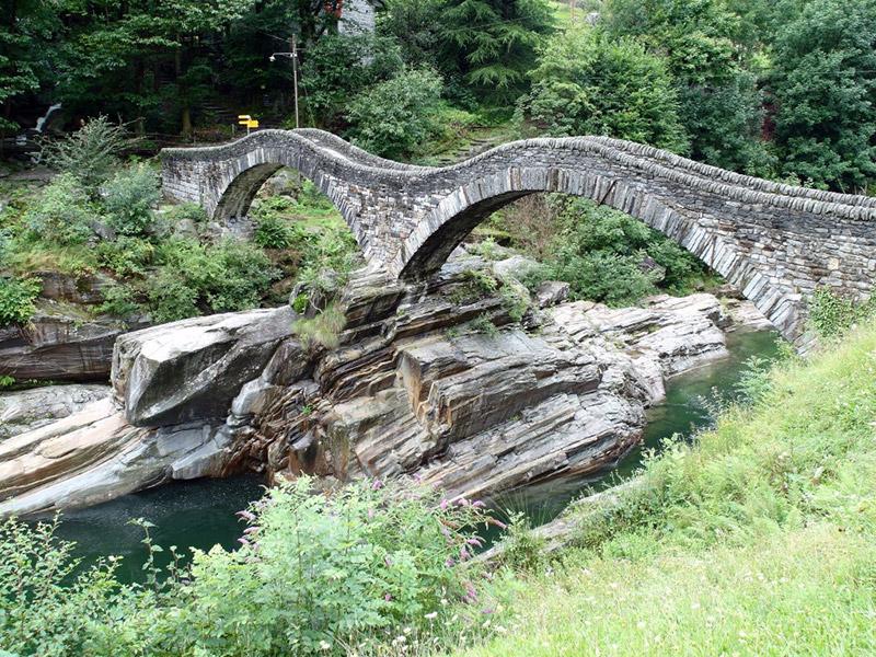 Roman Bridge in Lavertezzo, Verzasca valley