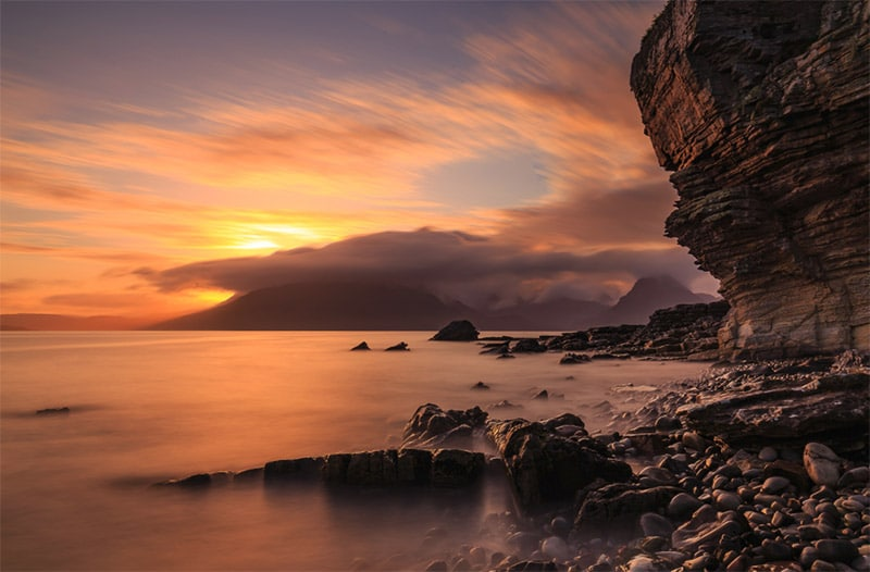Sunset at Elgol Beach