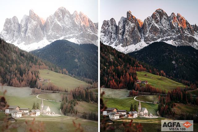 Agfa Vista 100, Film Preset for Landscape and Travel Photography, Lightroom Preset