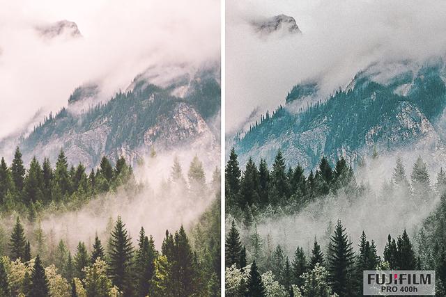 Fuji Pro 400h, Film Preset for Landscape and Travel Photography, Lightroom Preset