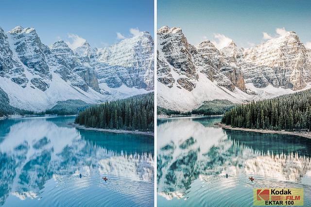 Kodak Ektar 100, Film Preset for Landscape and Travel Photography, Lightroom Preset