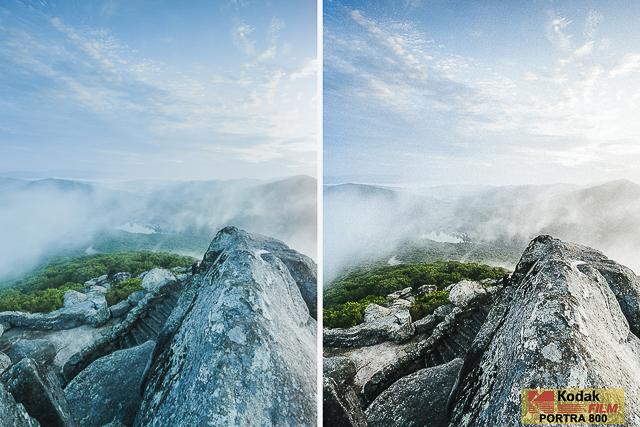 Kodak Portra 800, Film Preset for Landscape and Travel Photography, Lightroom Preset