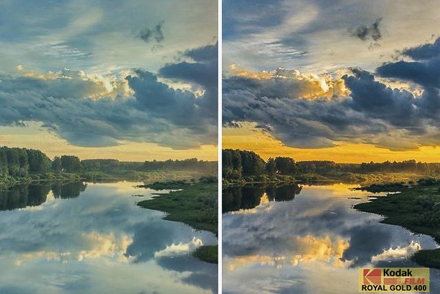 Kodak Royal Gold 400, Film Preset for Landscape and Travel Photography, Lightroom Preset