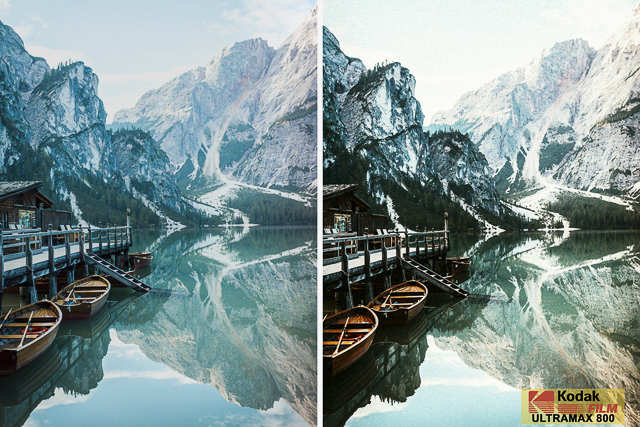 Kodak UltraMax 800, Film Preset for Landscape and Travel Photography, Lightroom Preset